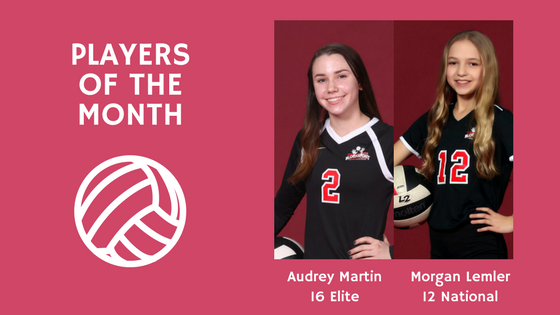 players of the month blocksport volleyball club