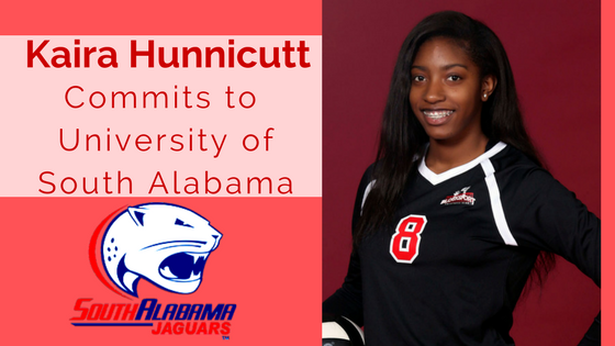 Kaira Hunnicutt blocksport volleyball club south alabama university