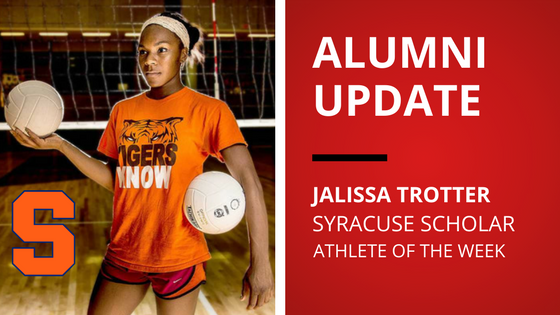 jalissa trotter blocksport volleyball club athlete of the week syracuse university